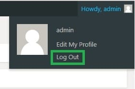wordpress step 8 logging out to test your new password