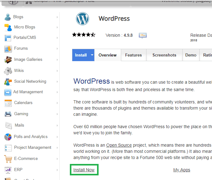 siteground step 4 click install - How To Install WordPress