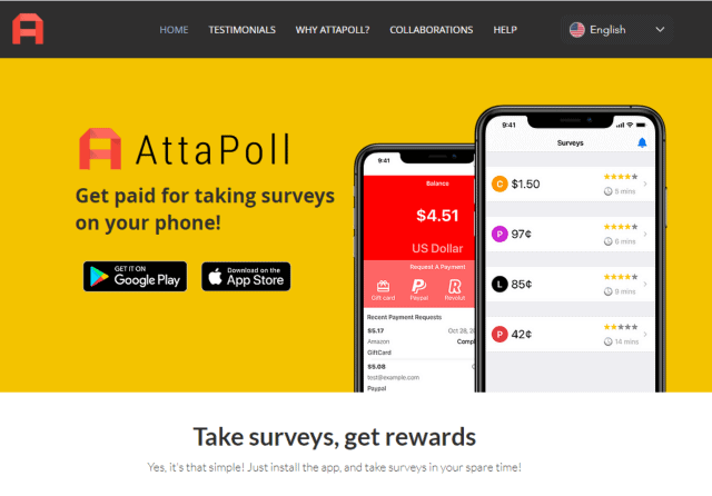 Attapoll another paypal surveys money site