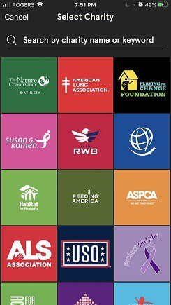 get paid to walk with list of charities under charity miles app