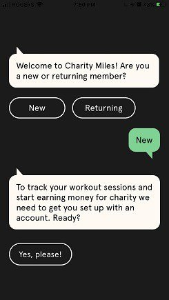 charity miles startup