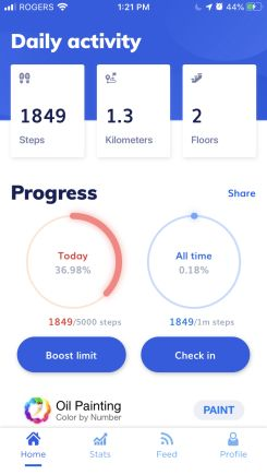 get paid to walk with million steps dashboard
