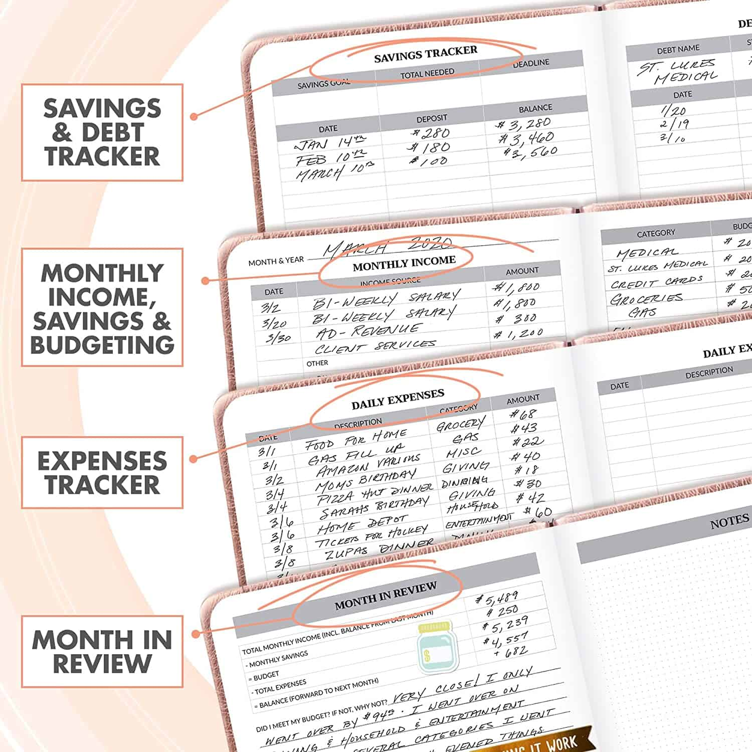 simplified monthly book by Zicoto