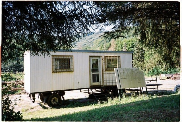 living in mobile home to save money