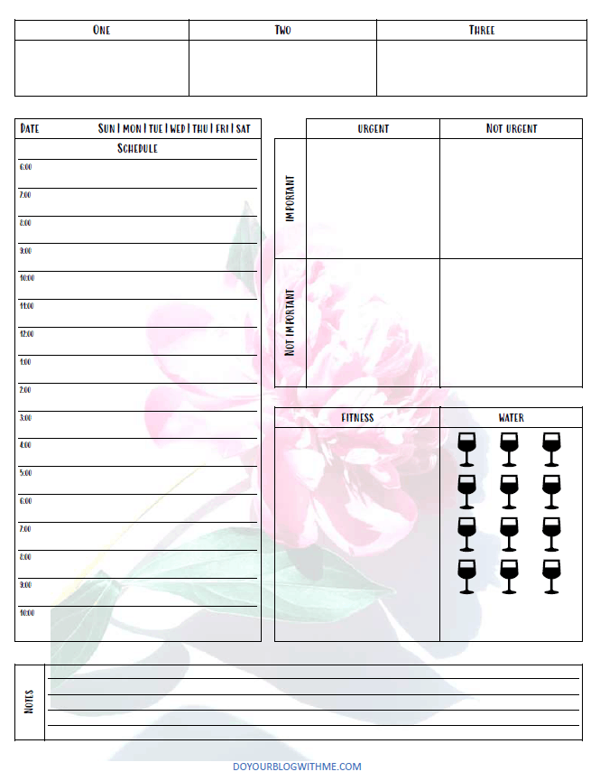 today time planner